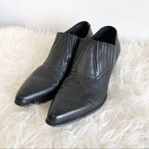 Durango western low top booties leather black shoe